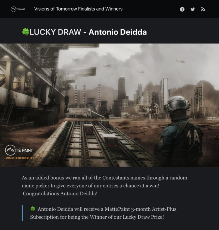 Achievements: mATTEPAINT.COM – LUCKY DRAW